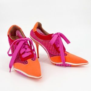 JEFFREY CAMPBELL Shootoff Sporty Pointed Toe Heel Size 8